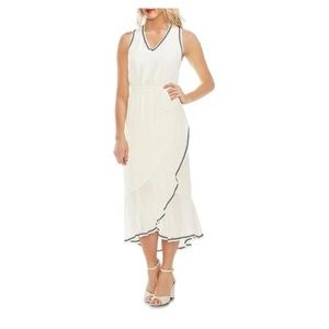 Vince Camuto Sheet Ruffle Maxi Hem Dress
